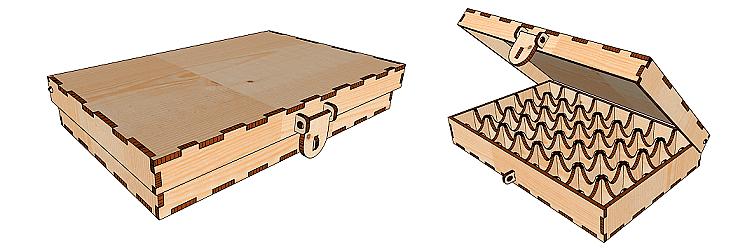 коробка из фанеры лазерная резка